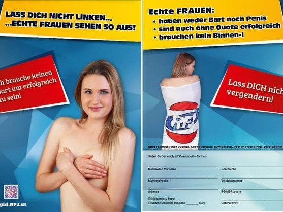 Diese Kampagne des RFJ Burgenland sorgt derzeit für Aufregung.