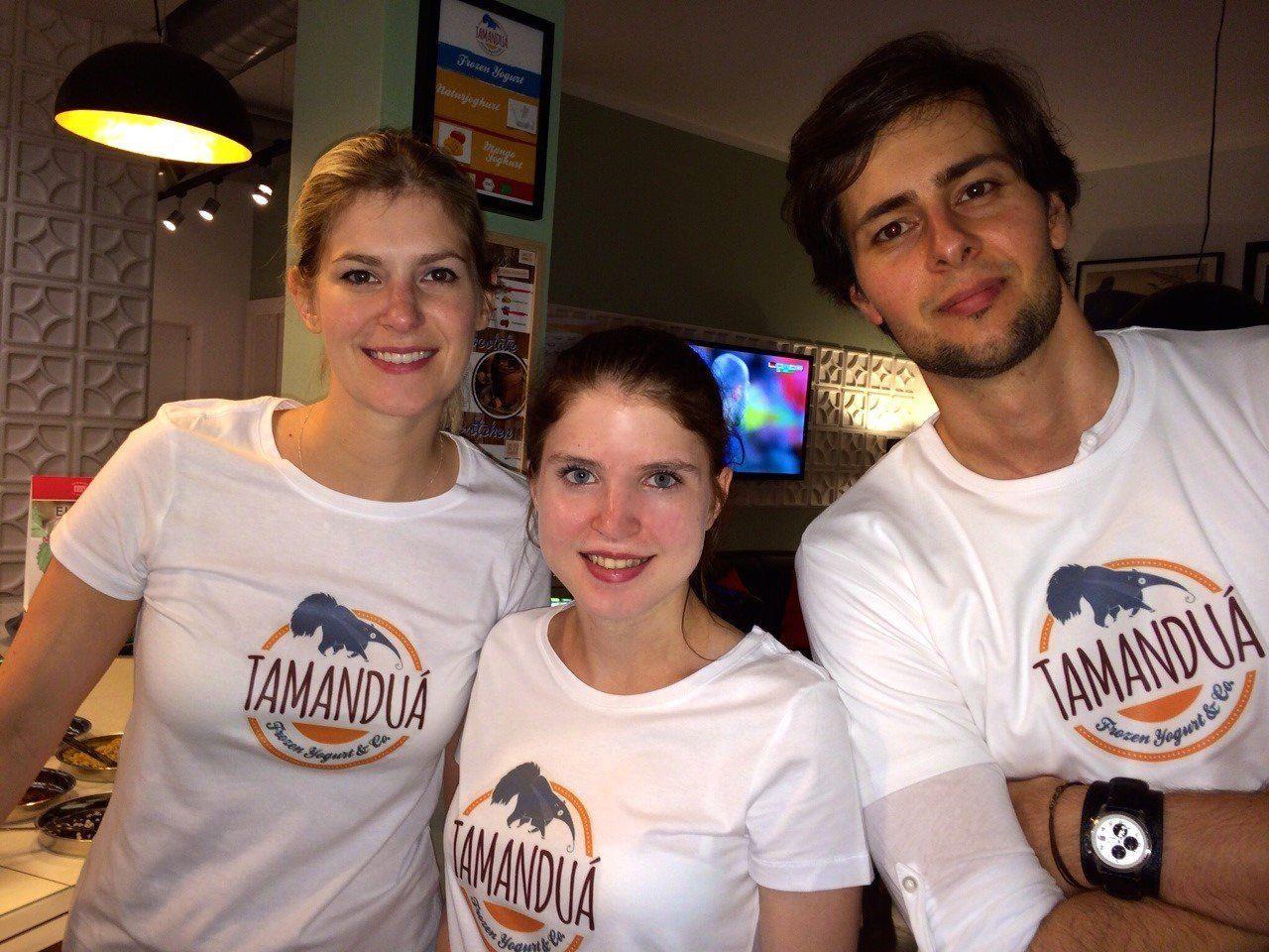 Ein gutes Team: Vera Huemer-Marquart, Belinda Winter und Breno Marquart.