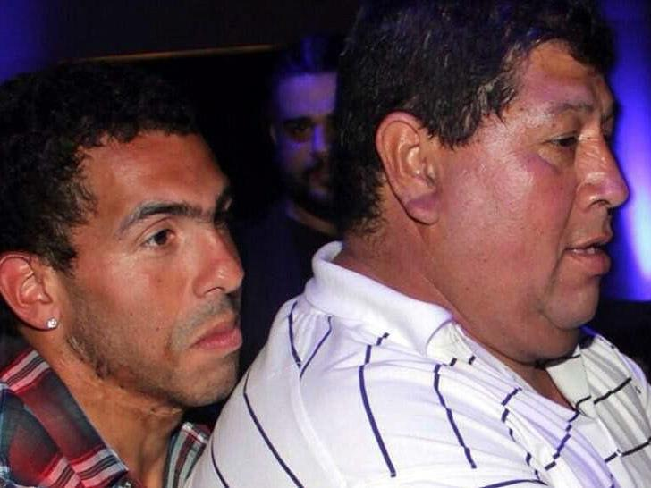 Carlos Tevez mit seinem Vater Segundo Tevez