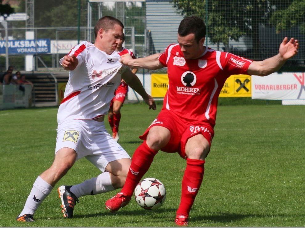 RW-Neuzugang Thomas Beck traf im Testspiel gegen den FC Dornbirn zweimal, aber Rankweil verlor knapp.