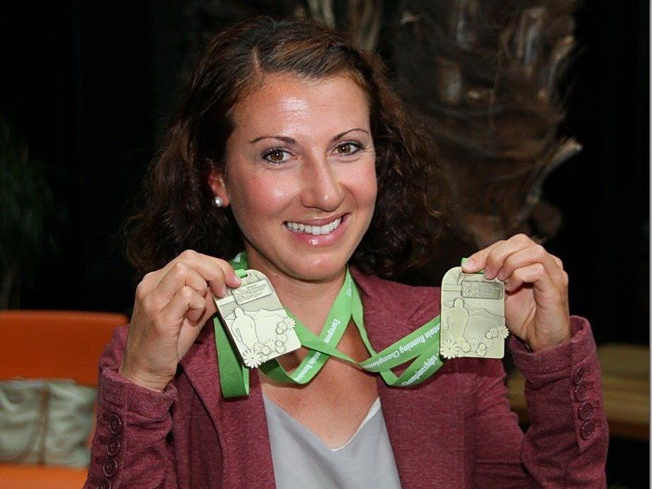 Die Dornbirnerin Sabine Reiner gewann zwei EM-Bronzemedaillen und wurde nun im Element geehrt.