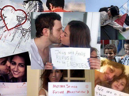 Gaza: Twitter-Kampagne will den Schreckensbildern etwas entgegensetzen: Liebe, Freundschaft, Vertrauen.