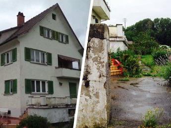 Im Eingangsbereich dieses unbewohnten Hauses wurde die Frau gefunden.