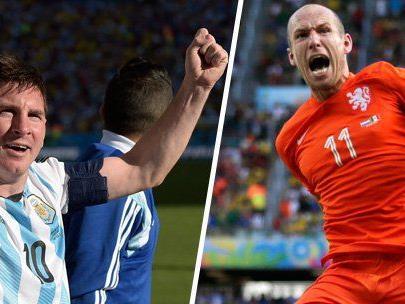 Heute greifen Lionel Messi und Arjen Robben ins WM-Geschehen ein.