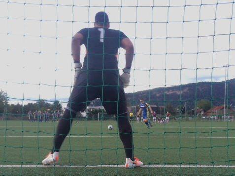 Dominic Hehle war wieder der Held im Cupspiel in Wolfurt, Hehle hielt zwei Strafstöße.