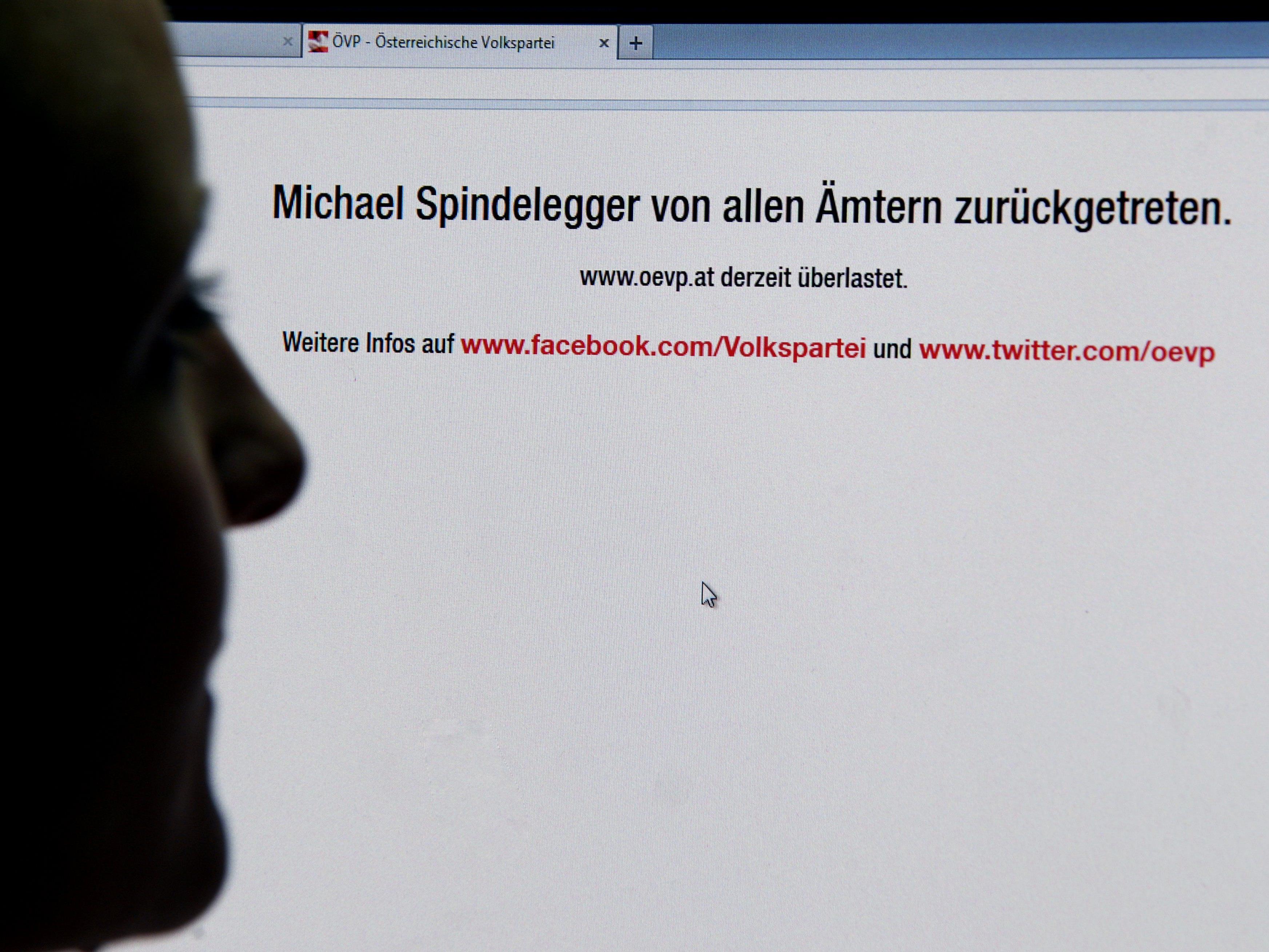 Das Netz überschlug sich: Die Homepage der ÖVP war überlastet, die beliebteste Hashtag auf Twitter war #Spindelegger.