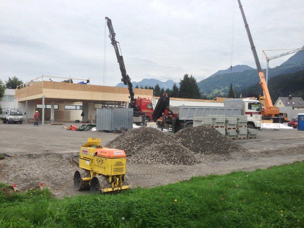 Zurzeit laufen die Umbauarbeiten auf Hochtouren.