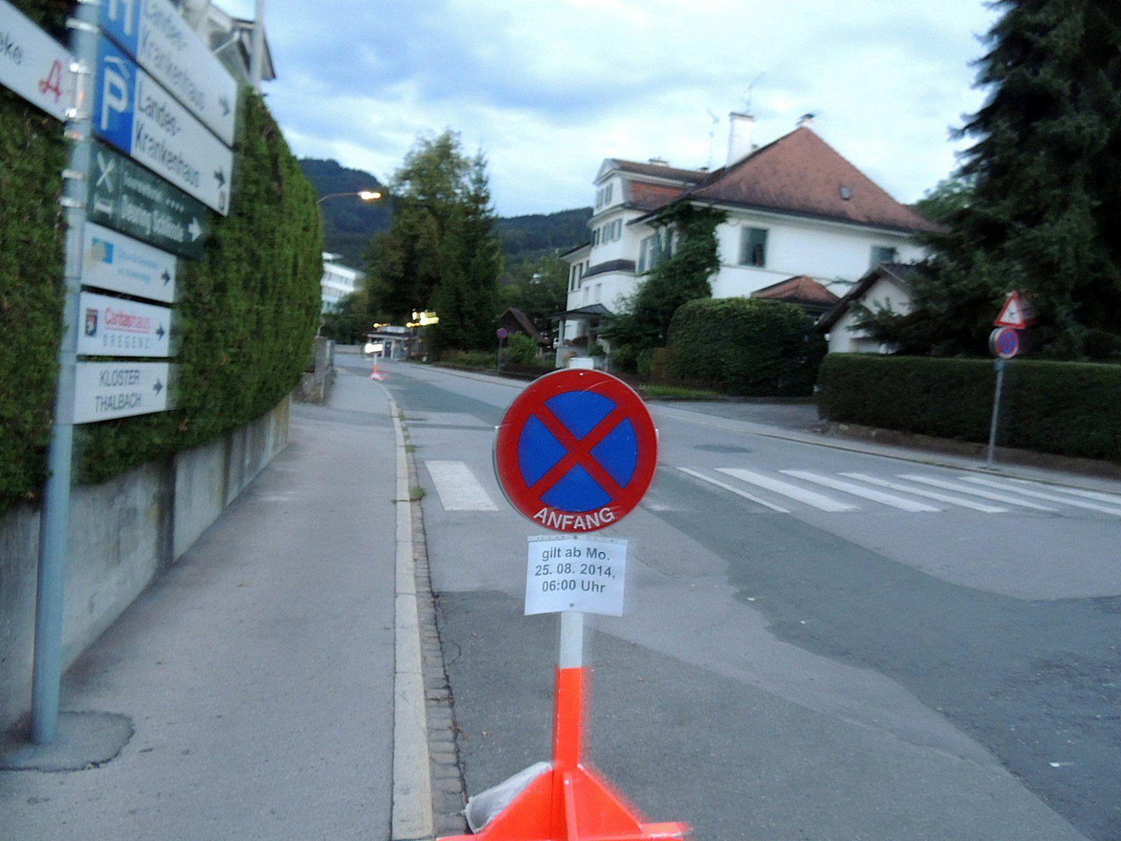 Sperre der Kreuzung Kolumbanstraße-Gallusstraße