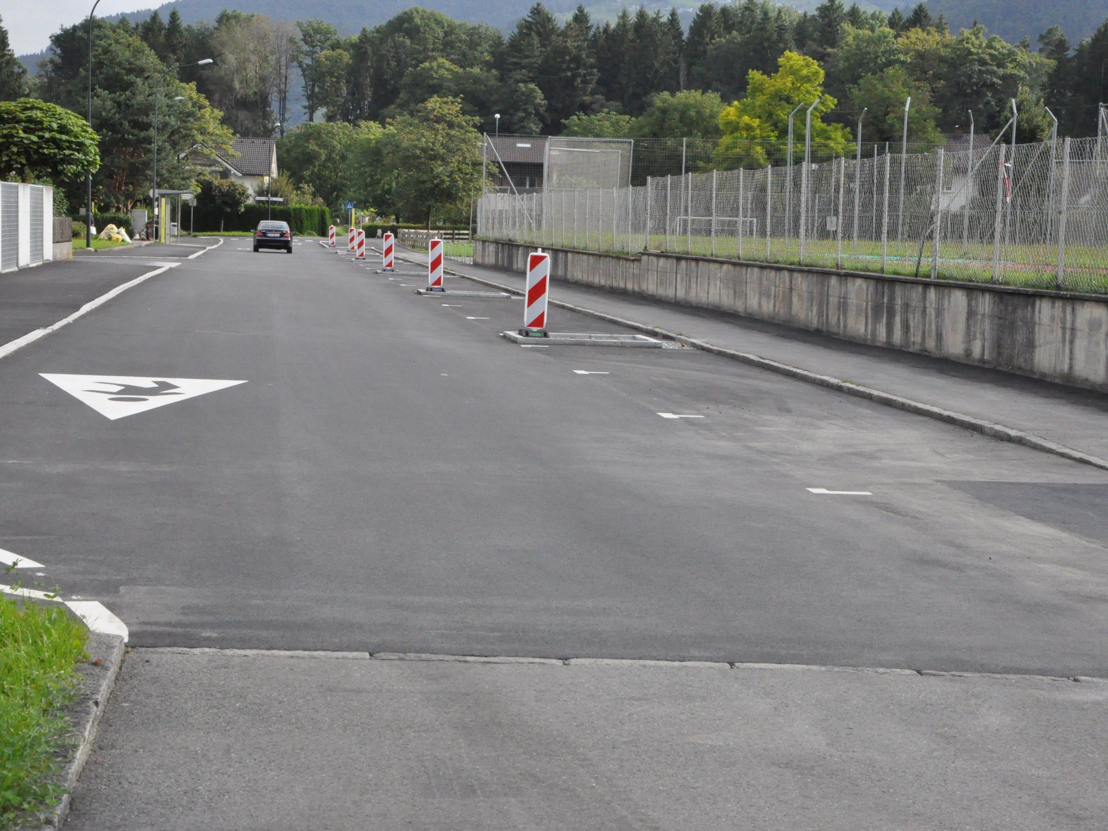 Die Sanierung der Vorderlandstraße ist abgeschlossen.