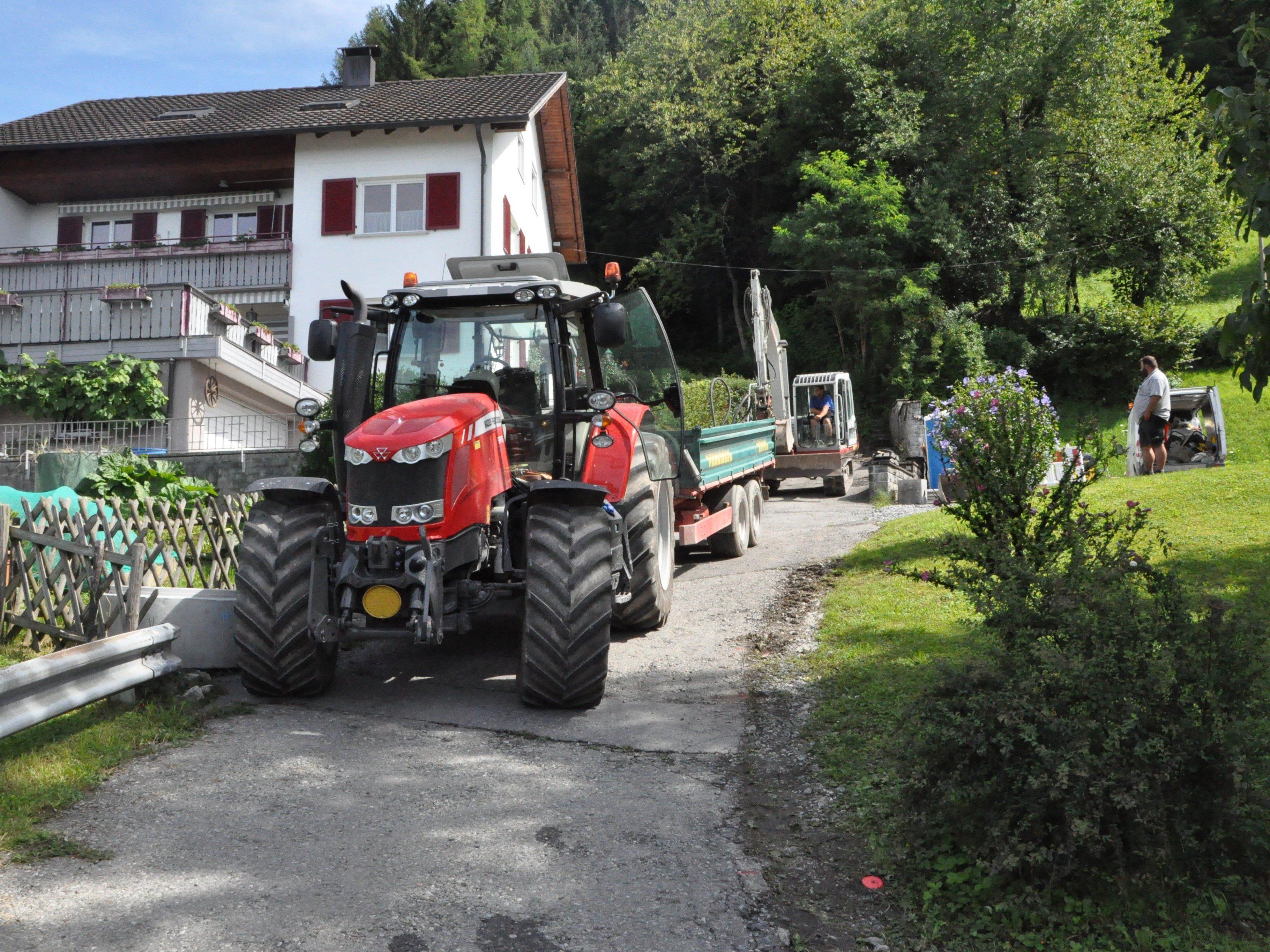 Die Sanierungsarbeiten bei der Röslegasse haben begonnen.