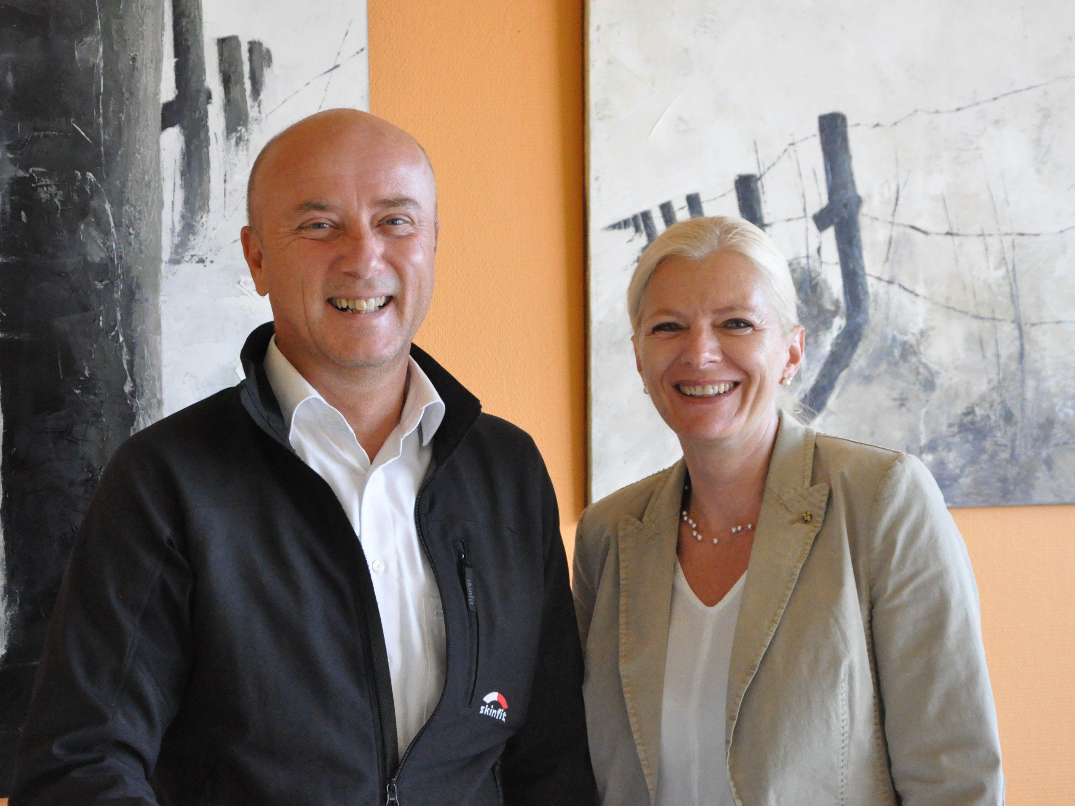 Neo - Obmann Raimund Frick arbeitet eng mit Lebenshilfe Geschäftsführerin Michaela Wagner zusammen.