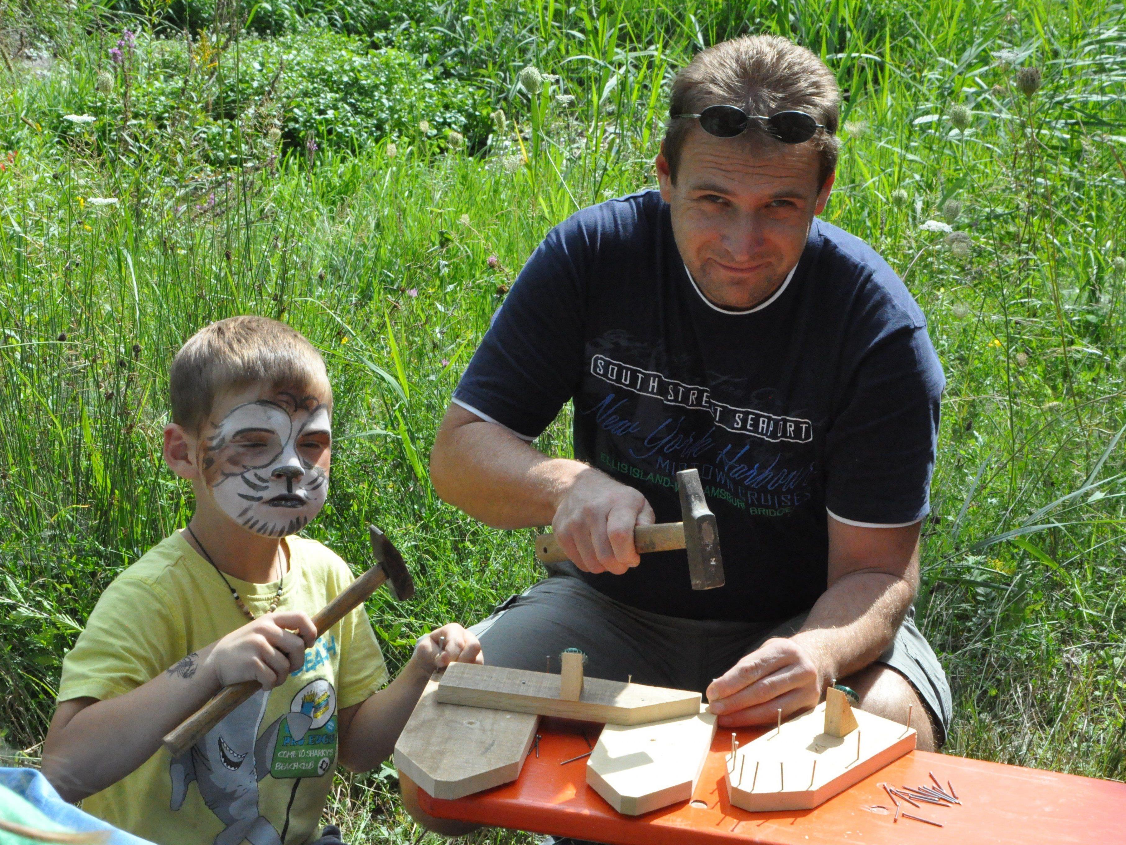 Kinder und Eltern hatten riesen Spaß beim Klauser Wasserfest.