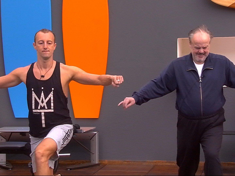 Mario-Max Prinz zu Schaumburg-Lippe beim Training mit Hubert Kah.