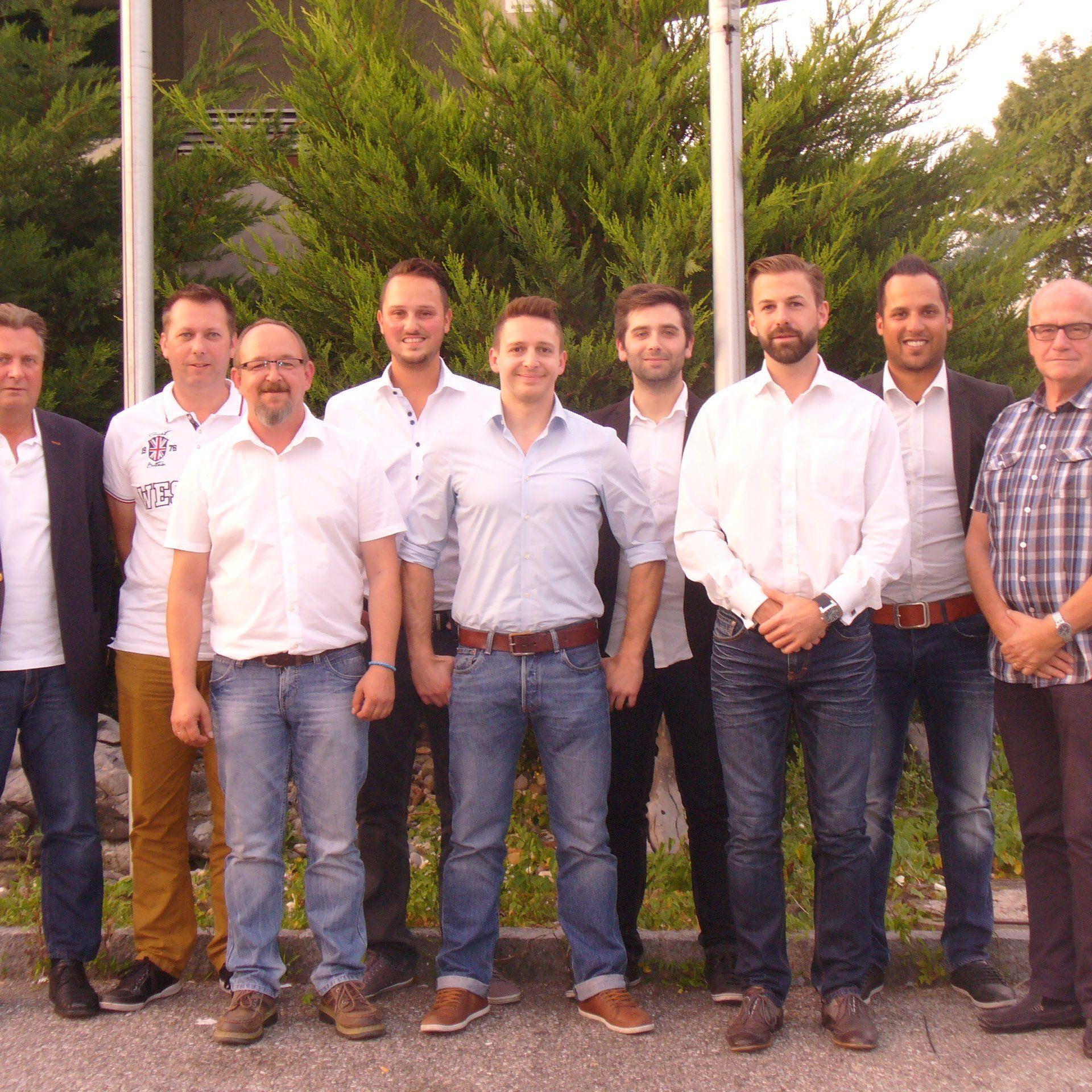 Der alte und neue Vorstand vom SC Hohenems.
