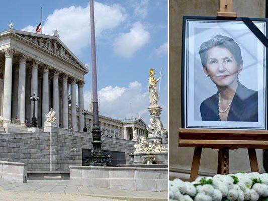 Im Parlament findet der Staatsakt zur Trauerfeier von Barbara Prammer statt