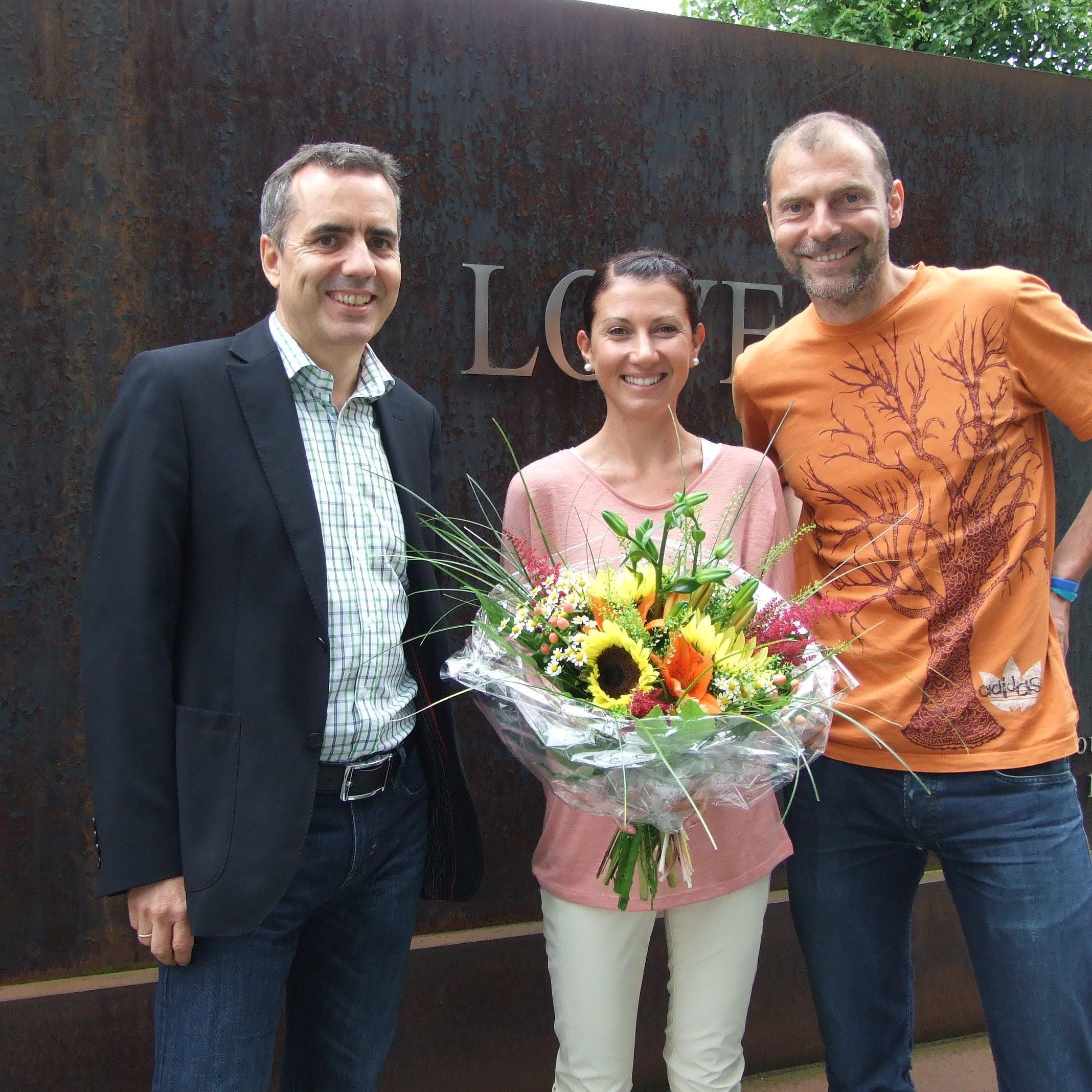 Die Dornbirnerin Sabine Reiner gewinnt den Sparkasse Marathon von 2011