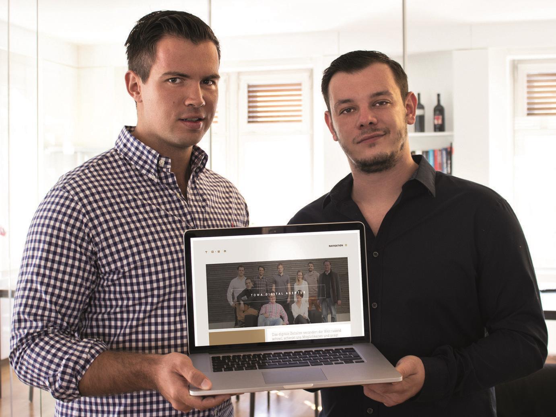 Gewannen beim internationalen Red Dot Award: TOWA-Geschäftsführer Florian Wassel und Marko Tovilo.