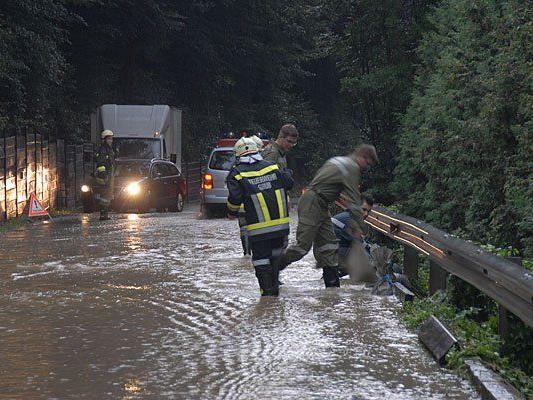 Unwetter-Einsatz in der Gemeinde Wienerwald