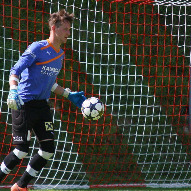 Bizau-Goalie Marc Gasser will zum Klassenerhalt in der Regionalliga West einen großen Beitrag leisten.