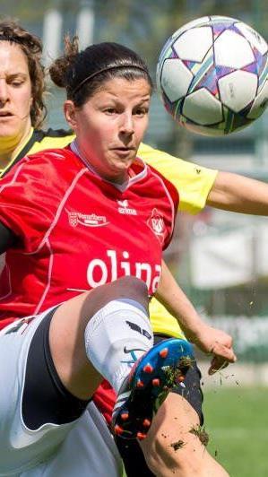RW-Kapitänin Veronika Dobler führte im Mittelfeld Regie, Rankweil gewann in Haiming mit 7:1.