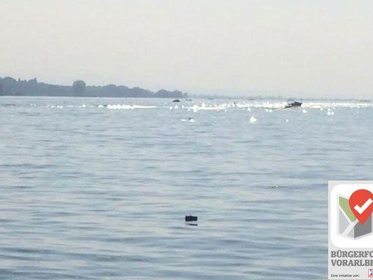 Die Schwimmer der Fischernetze sind für unwissende Badegäste als solche nur schwer zu erkennen.