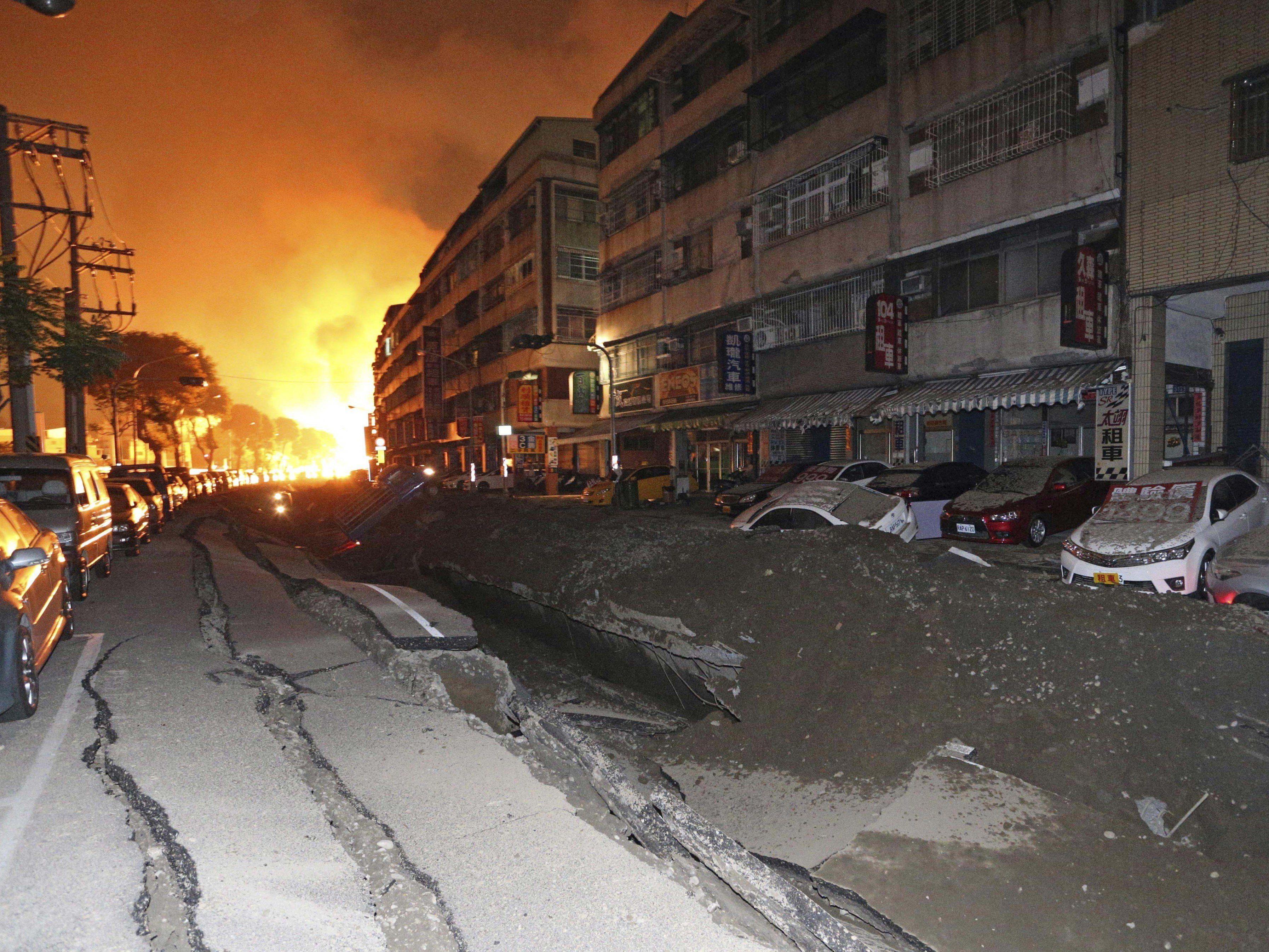 Tote und dutzende Verletzte bei Inferno in Stadt Kaohsiung