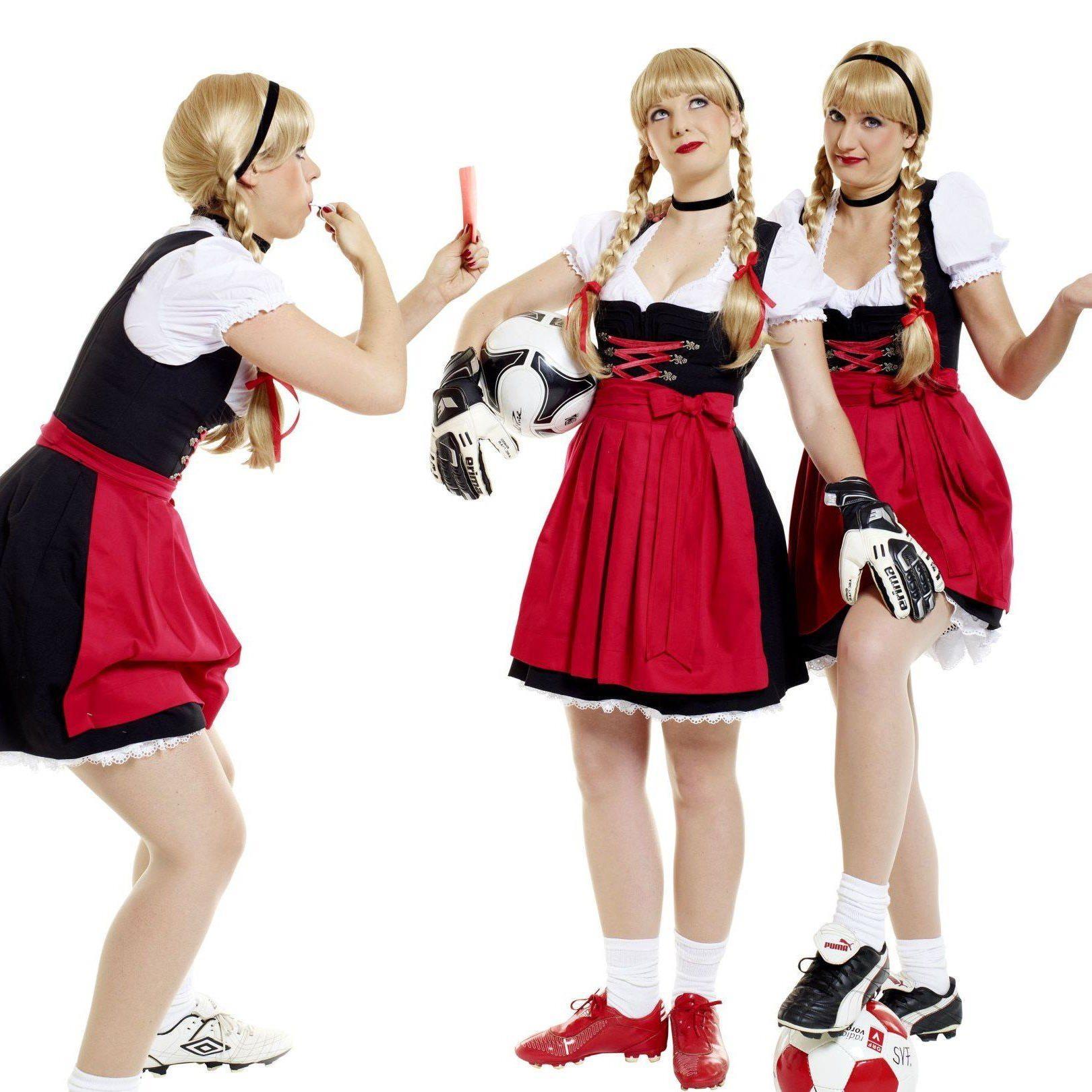 Die drei Schwestern sind im ganzen Ländle anzutreffen, sogar auch auf Fußballplätzen.