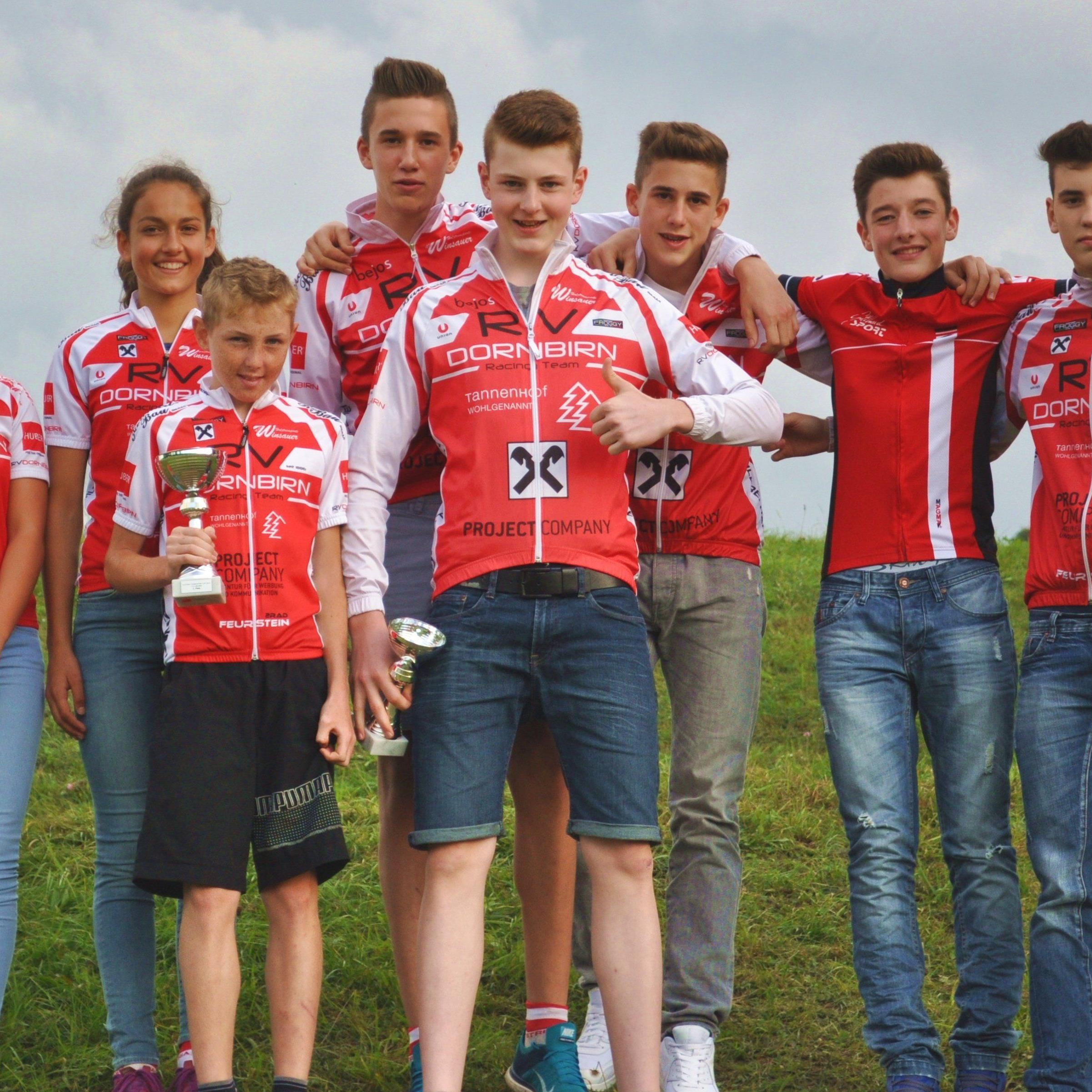 Die Nachwuchsfahrer vom RV Dornbirn sind zweitbestes Team Österreichs.