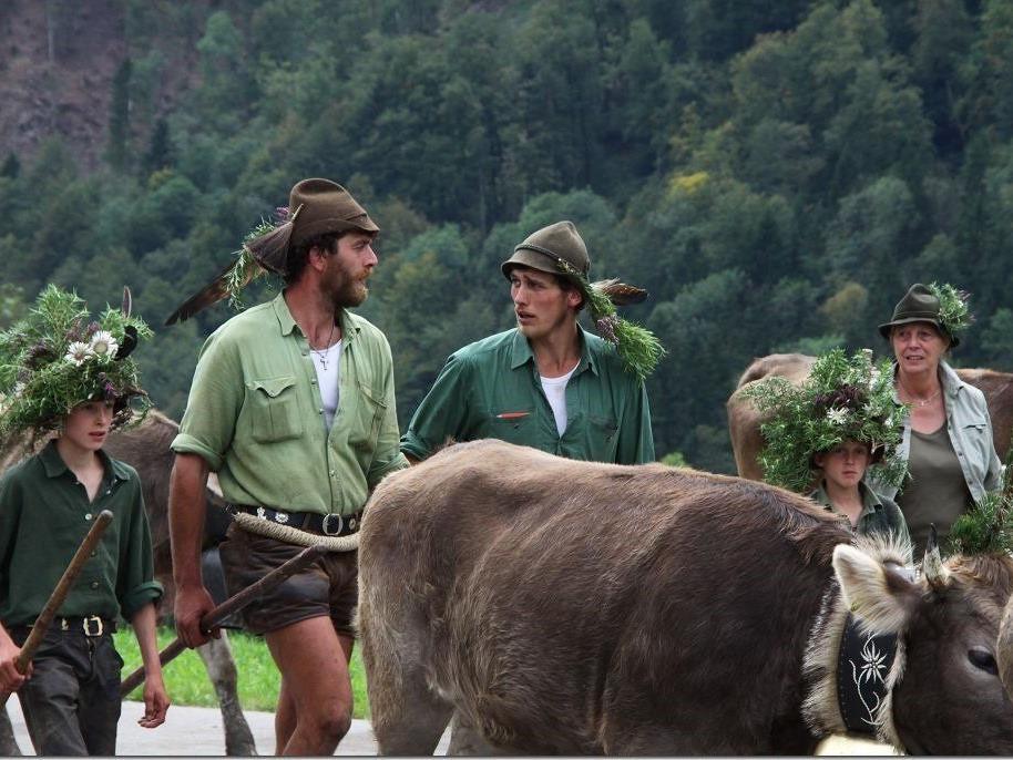 """Der Alpabtieb im Bregenzerwald war wieder dem Prädikat """"sehenswert"""" zuzuordnen. Tausende Menschen waren als Zuschauer dabei."""