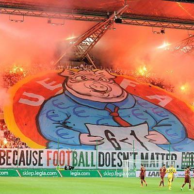 Die plakative Aktion der Fans wird für Legia teuer
