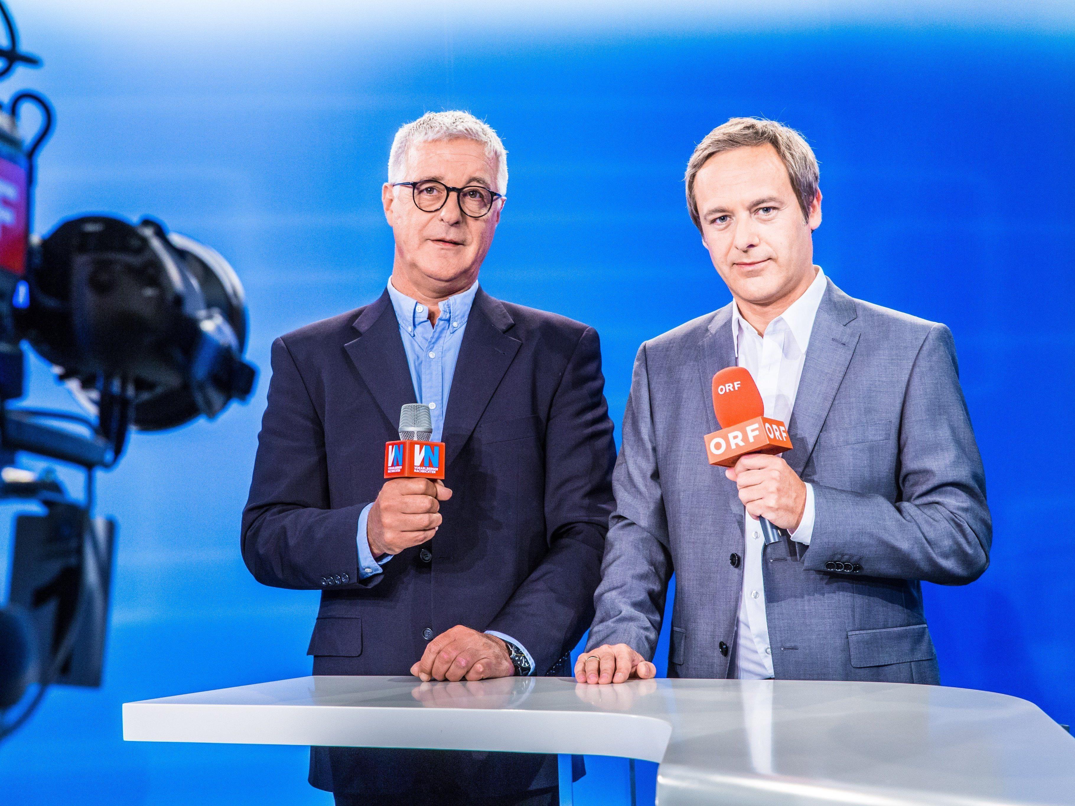 Werden Wahldiskussion in Vandans moderieren: die Redakteure von VN und ORF, Tony Walser (l.) und Daniel Rein.