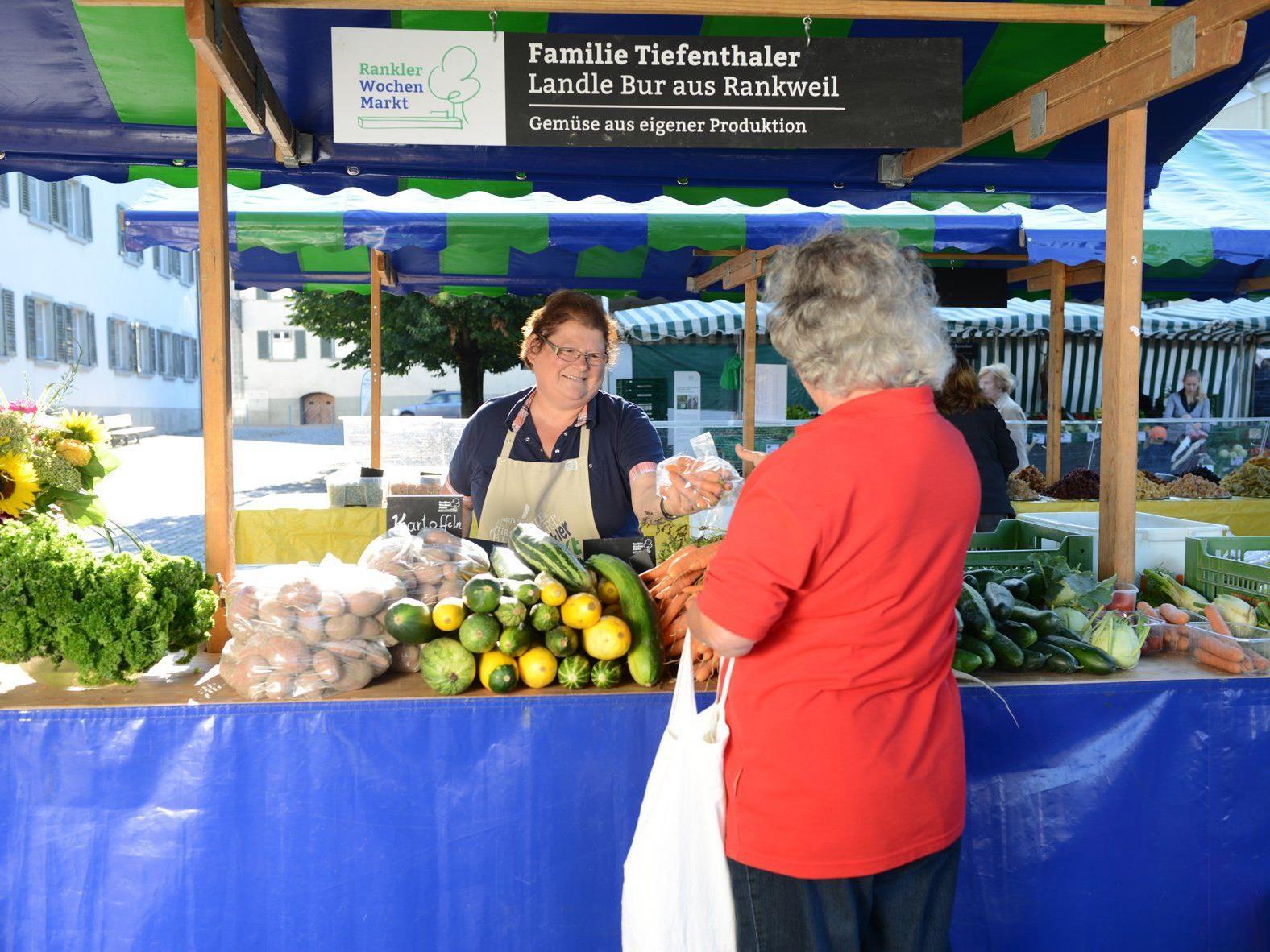 Der Rankler Wochenmarkt: Jeden Mittwoch von 8.00 bis 12.00 Uhr, Marktplatz Rankweil