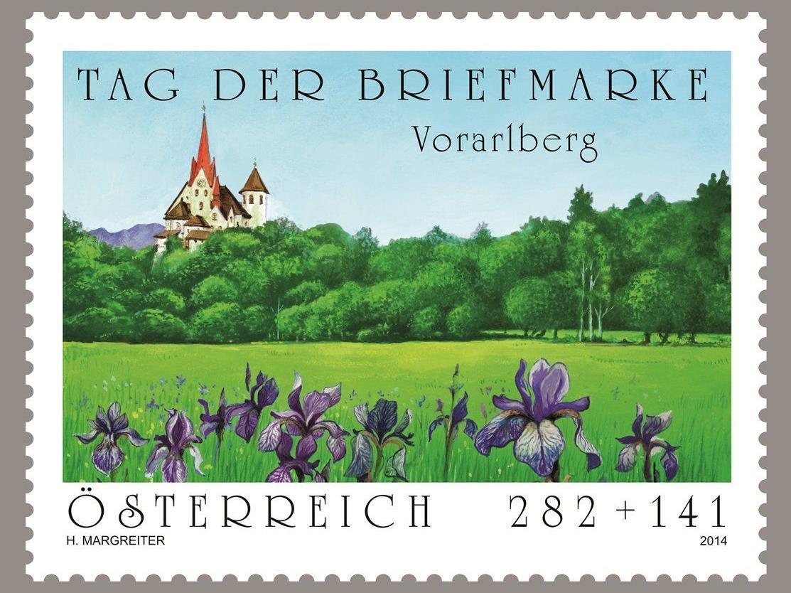 So sieht die neue Briefmarke mit Rankweil-Motiv aus.