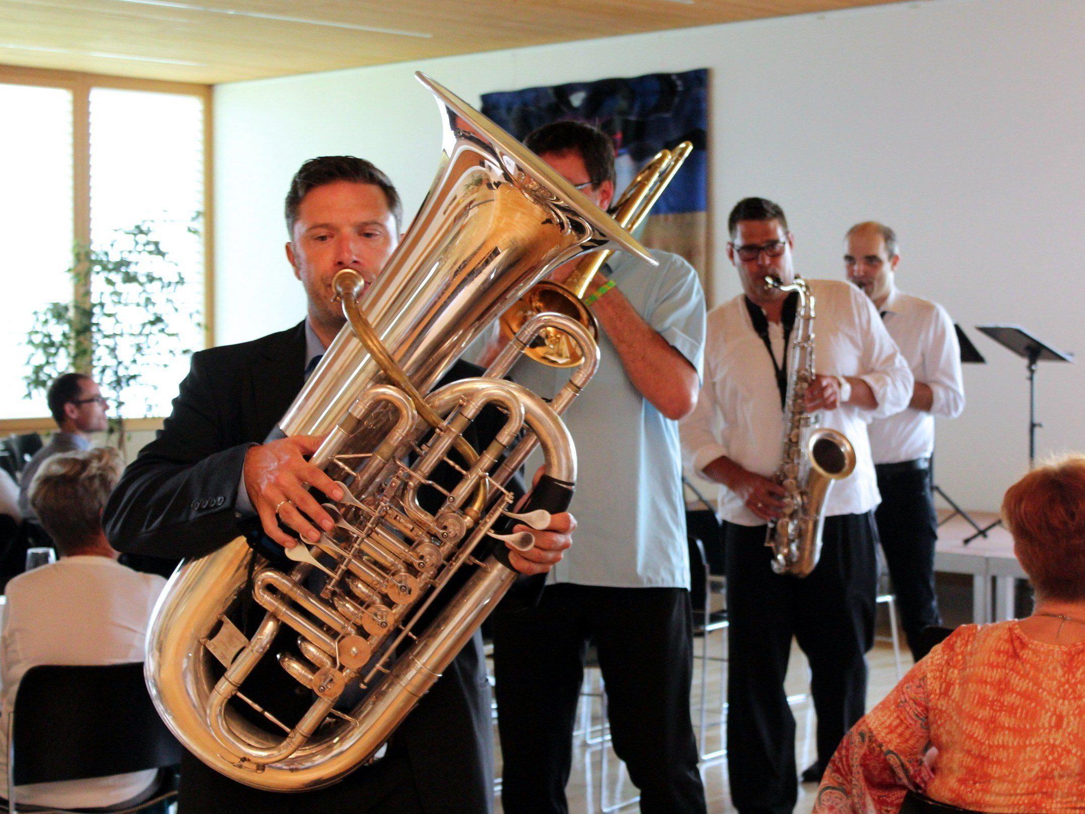"""Das Quartett """"Mixed Horns"""" sorgte für anspruchsvolle, abwechslungsreiche Blasmusik."""