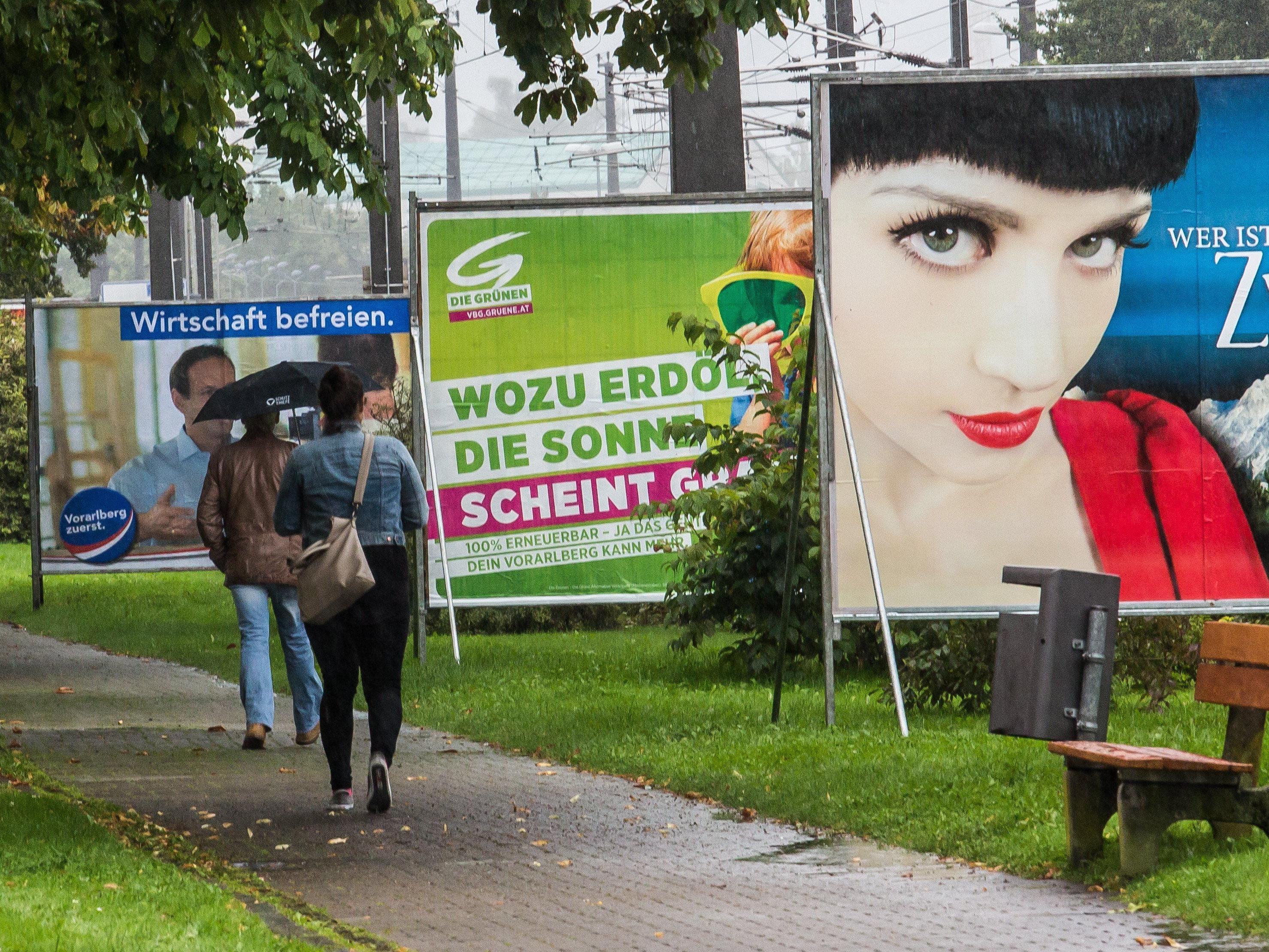 Vorarlberger Landtagswahl: Der Wahlkampf ist zu Ende.
