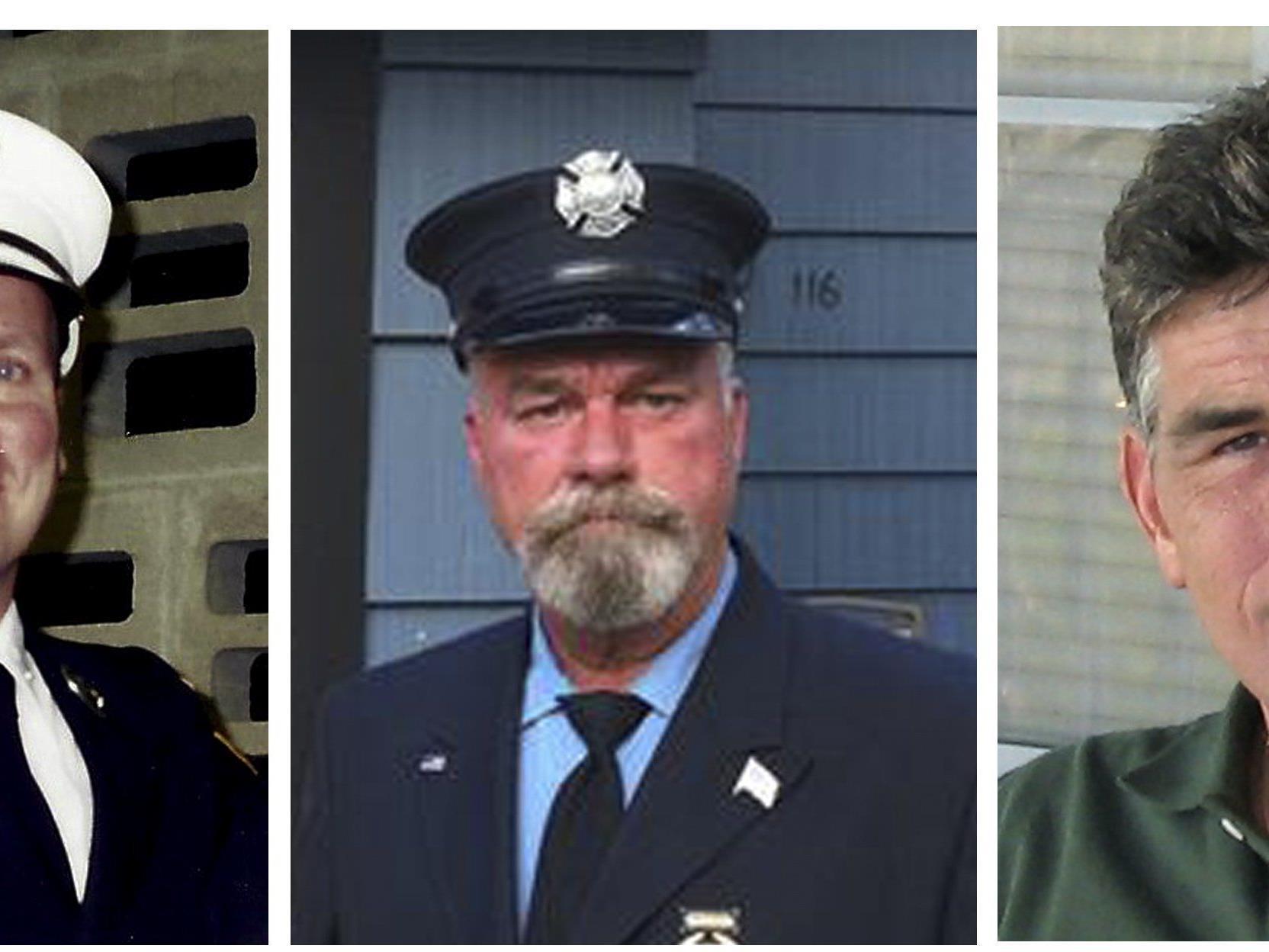 Howard Bischoff, Daniel Heglund und Robert Leaver (v.l.) starben alle am selben Tag innerhalb weniger Stunden.