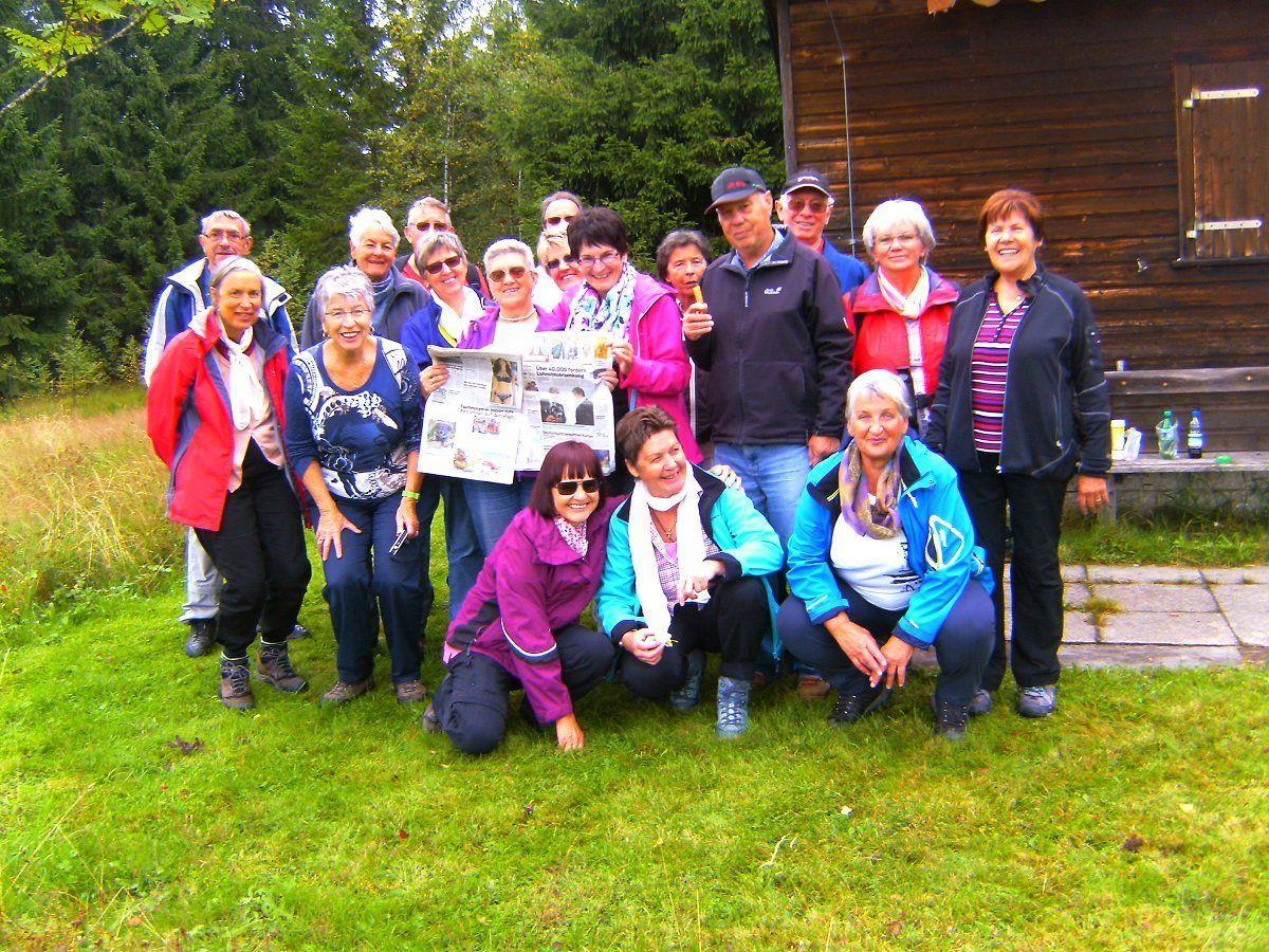 Viel Spaß hatten die Wanderer des Pensionistenverbandes Bregenz