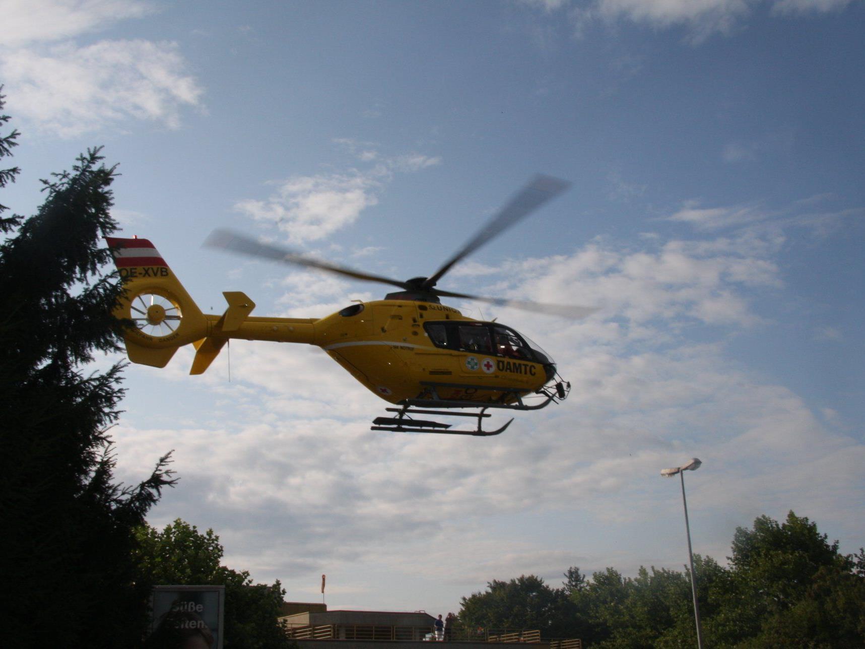 Mit schweren Verletzungen ins Spital geflogen