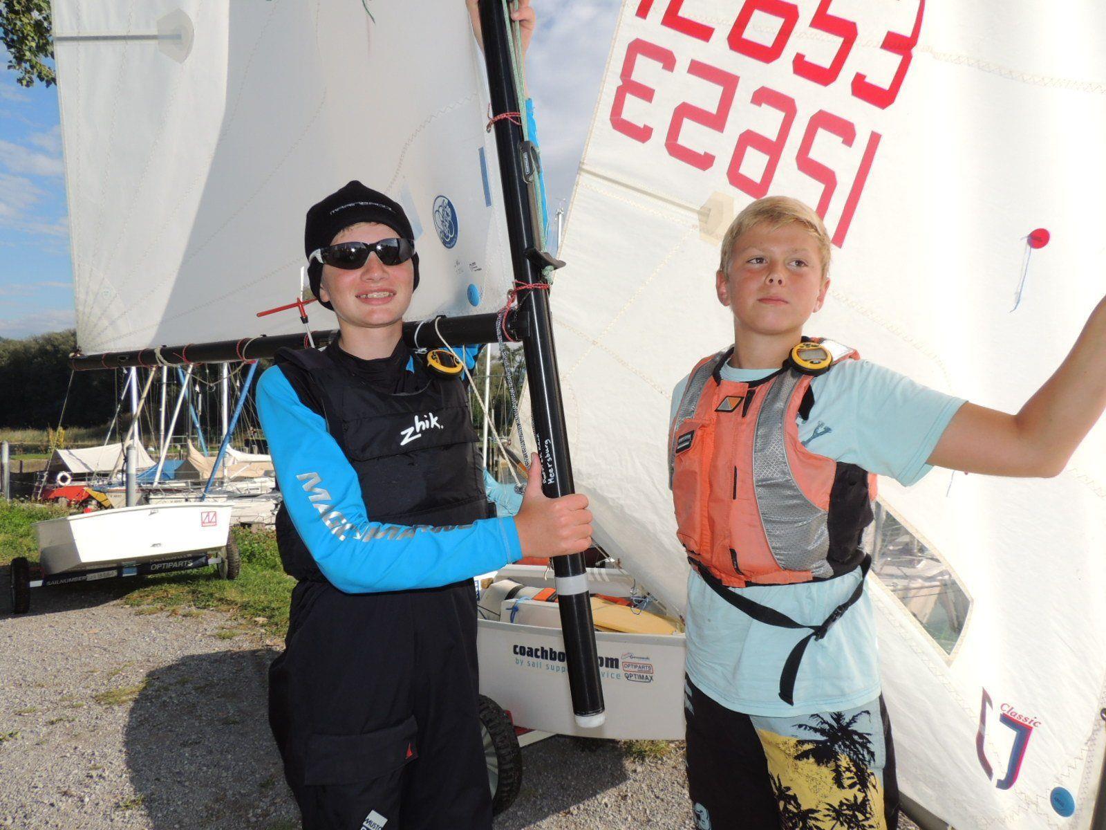 Patrick und Fridolin aus Deutschland kamen zur Meisterschaft der Optimisten nach Bregenz