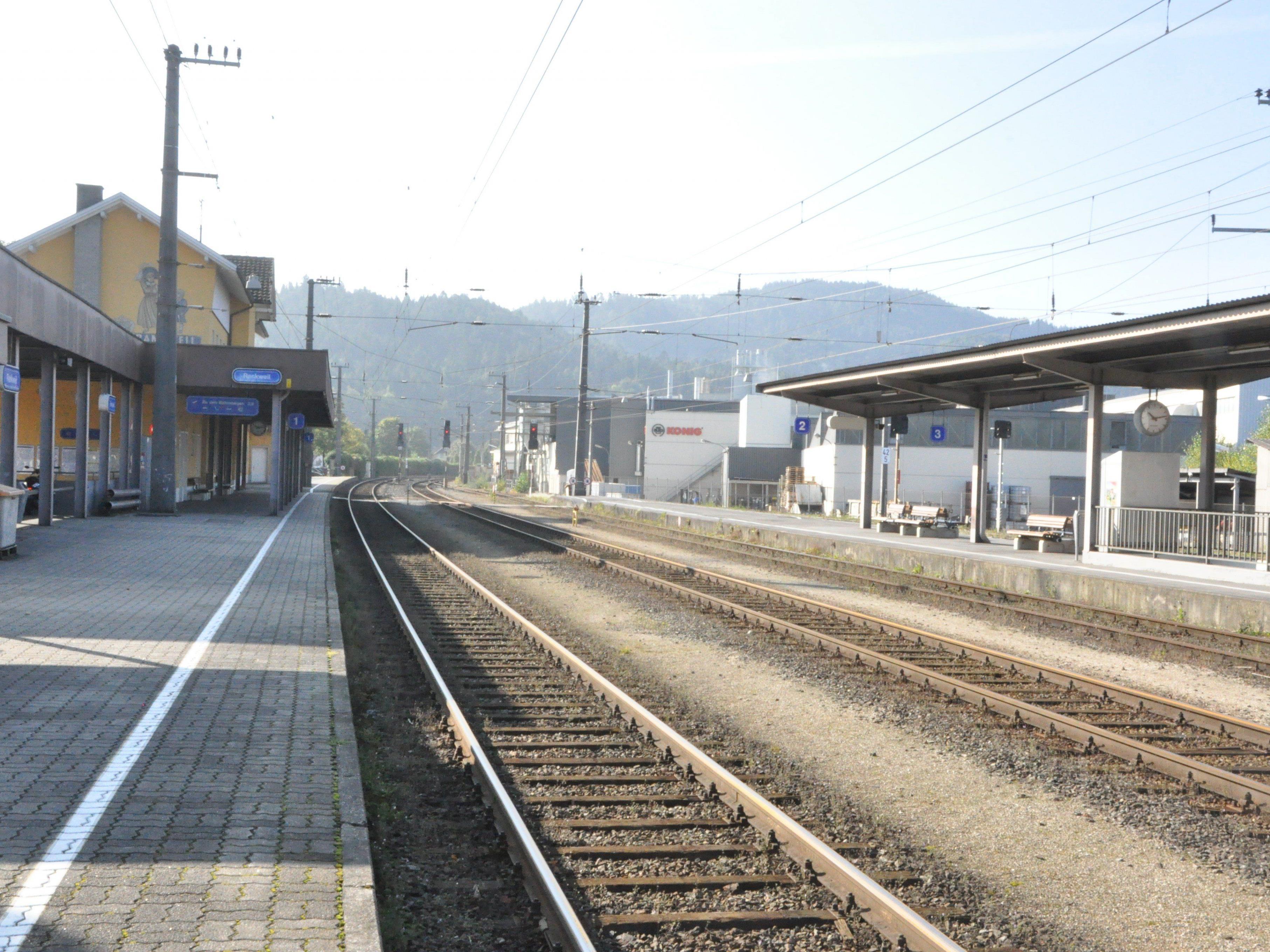 Ab November beginnen die Arbeiten beim Rankweiler Bahnhof.