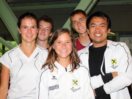 Dornbirns Jugend mit Coach Chien-Jen Wang
