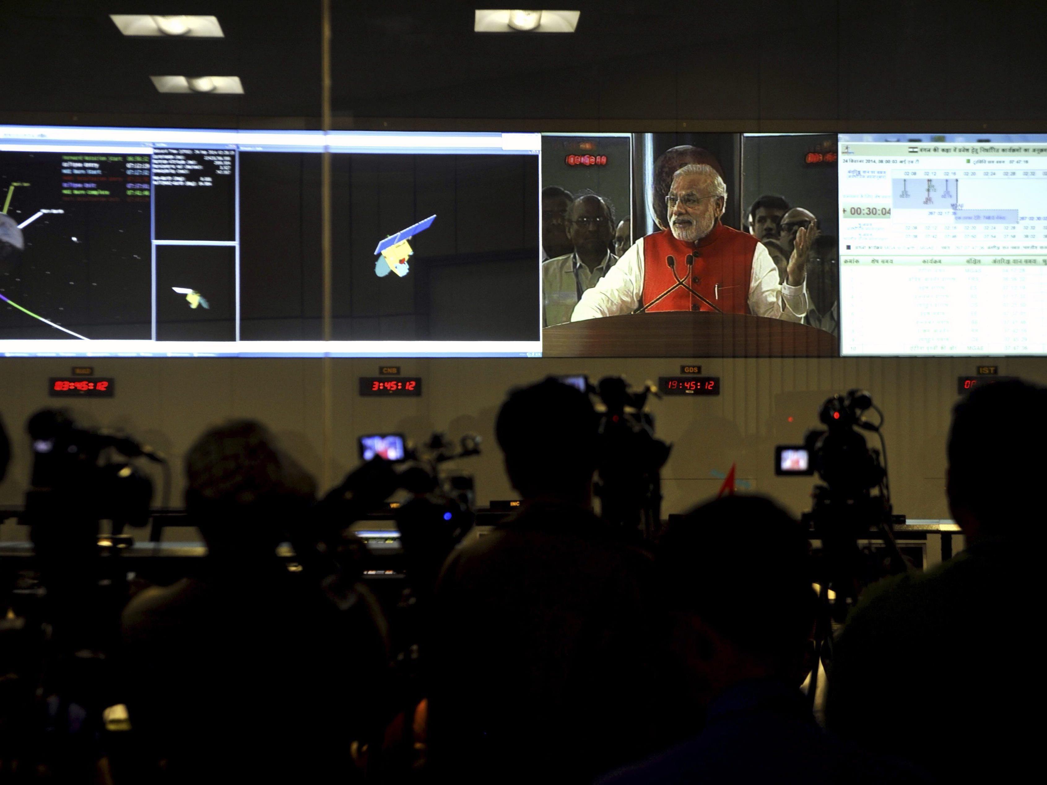 """Indische Weltraumsonde """"MOM"""" erreichte Mars-Umlaufbahn"""