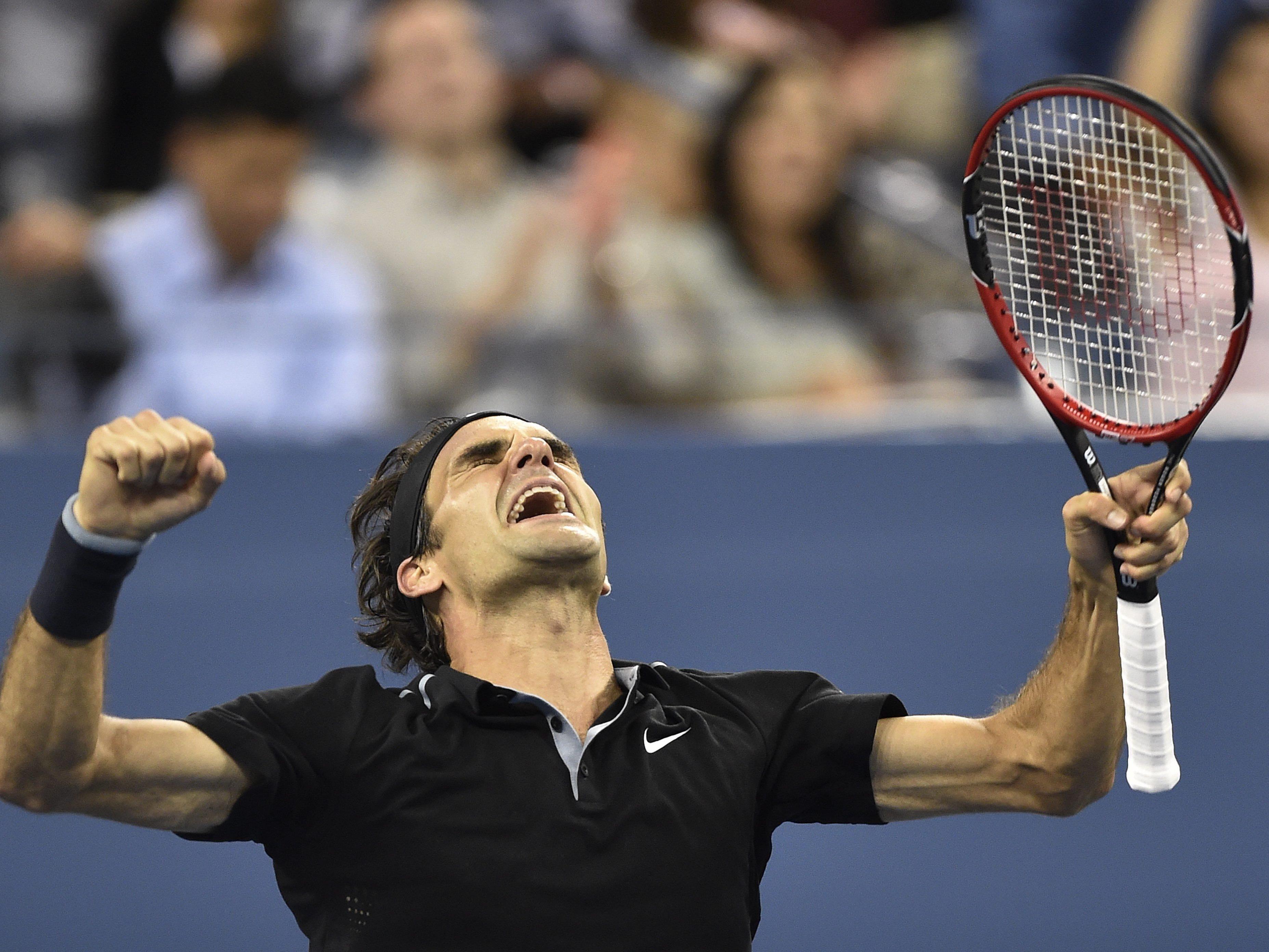 Roger Federer steht in diesem Jahr bereits zum neunten Mal in einem Halbfinale der US-Open.