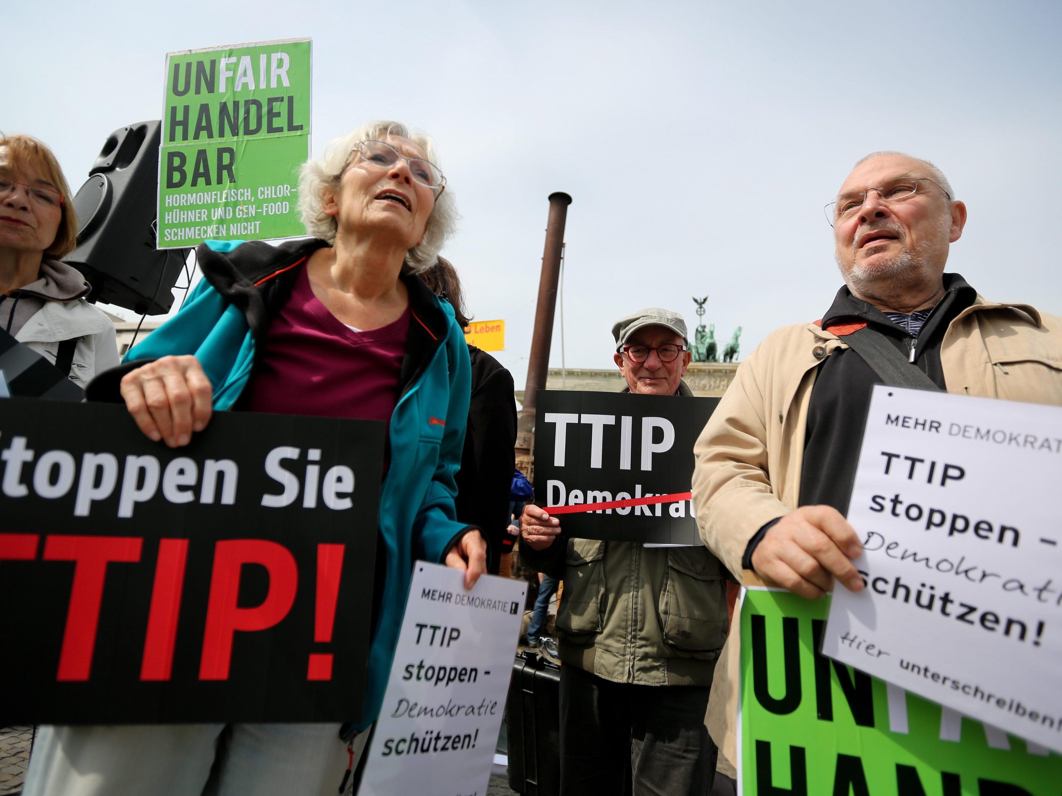 Proteste gegen TTIP werden immer lauter.