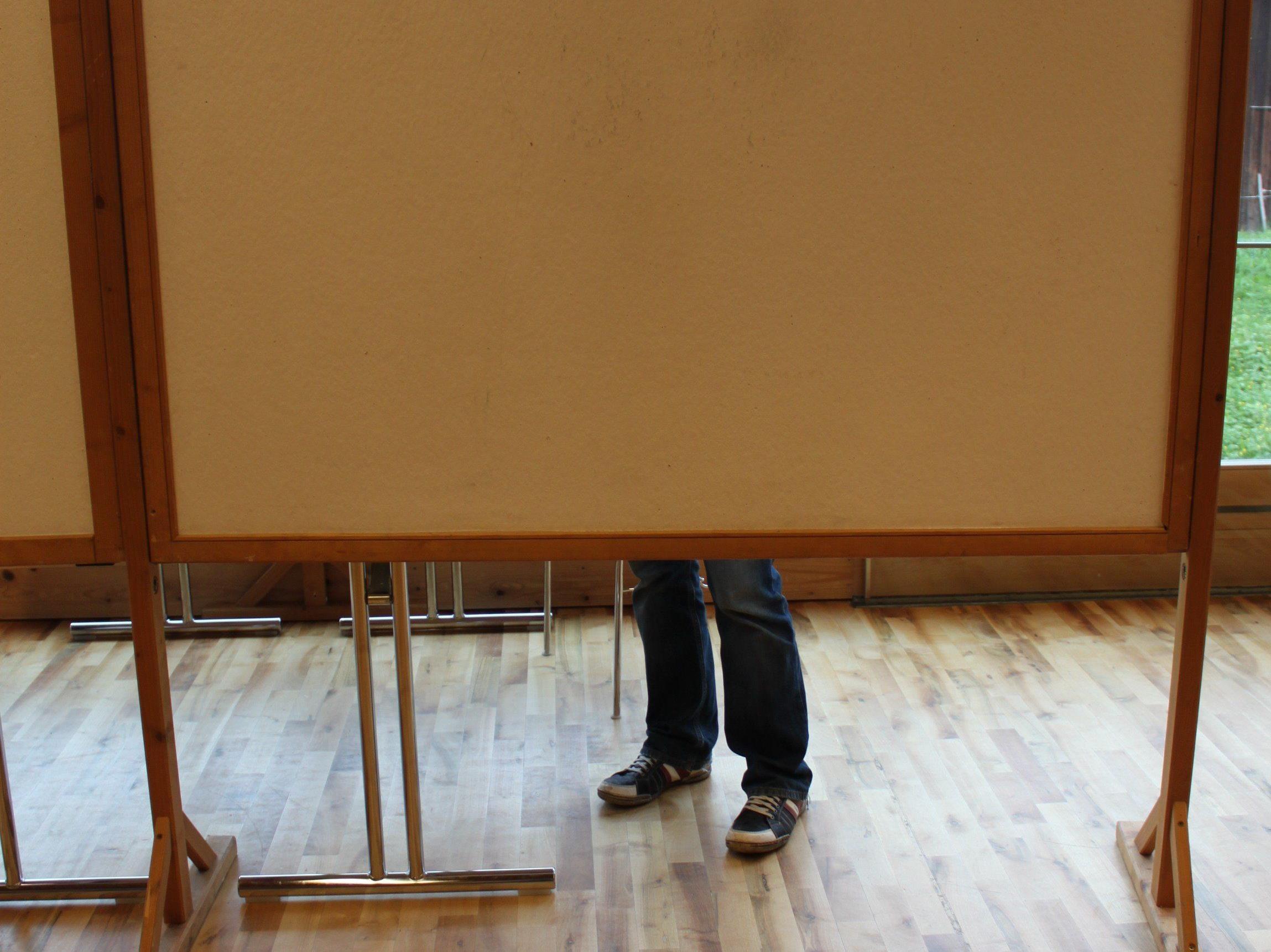 Wahllokal in Fraxern von 7.30 bis 12 Uhr geöffnet.