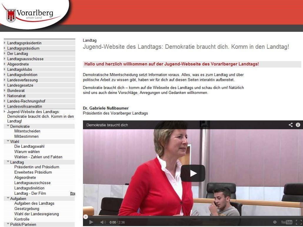 Steigerung um 400 Prozent auf der Jugend-Website des Vorarlberger Landtags