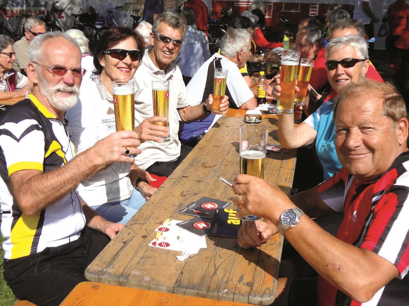 Gemütlichkeit und beste Stimmung herrschte bei der 14. Radfreunde des Seniorenbund in Koblach