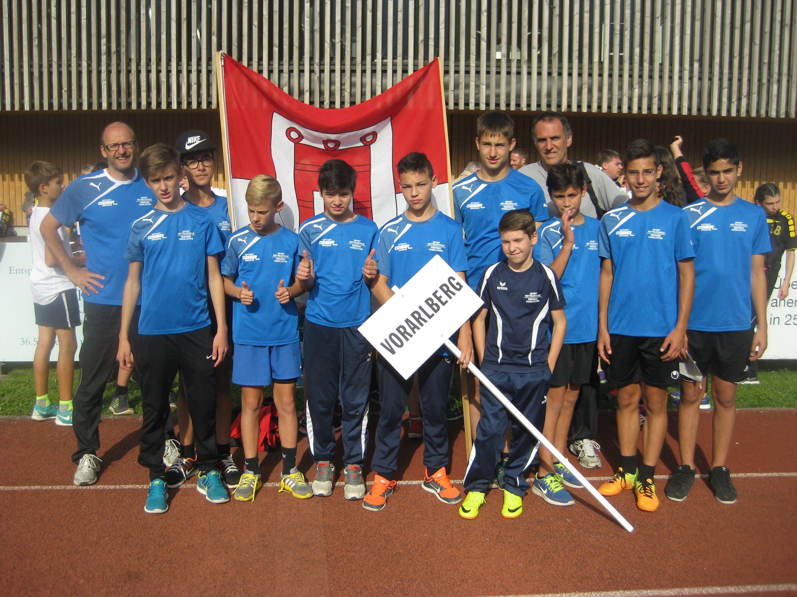 Das siegreiche Team der Sportmittelschule Vorkloster.