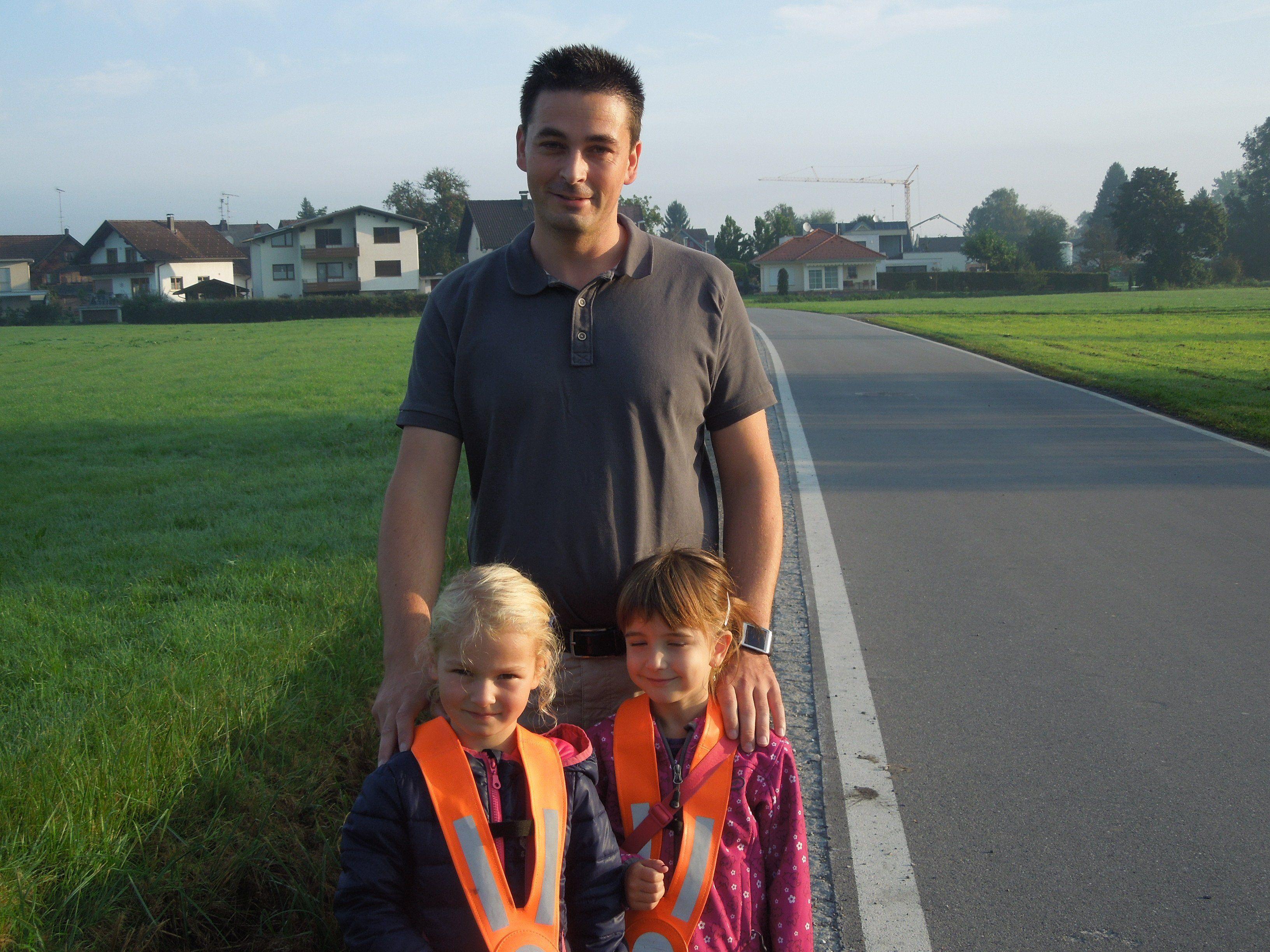 Pierre Jäger wünscht sich, dass die Kinder entlang der Forststraße einen sicheren Kindergarten- und Schulweg bekommen.