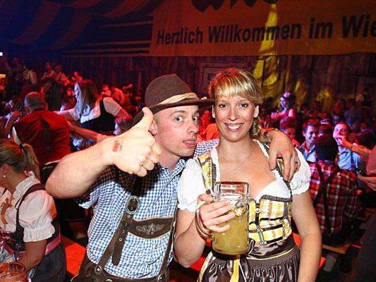 Abgefeiert wurde feuchtfröhlich am Samstag auf der Wiener Wiesn